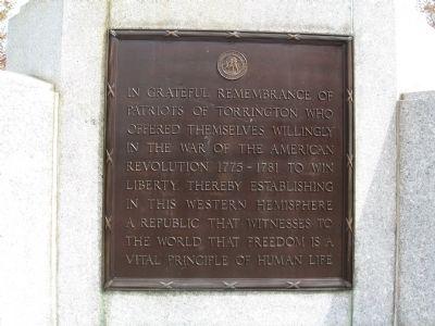 American Revolution Plaque image. Click for full size.