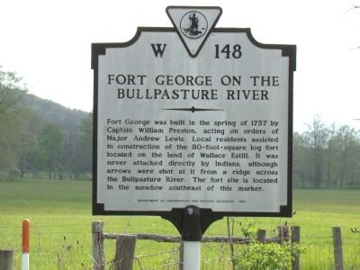 Fort George on the Bullpasture River Marker image. Click for full size.