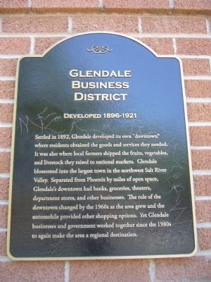 Glendale Business District Marker image. Click for full size.