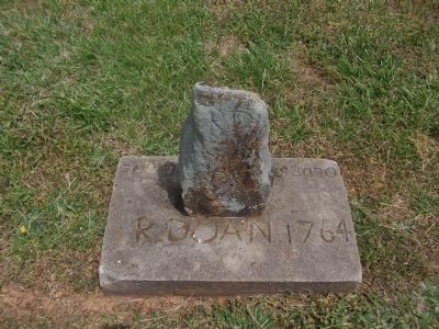 Cane Creek Meeting Cemetery - Oldest Recorded Grave image. Click for full size.