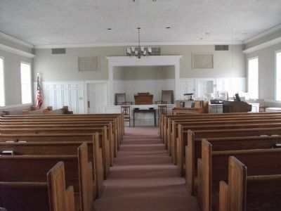 Cane Creek Meeting Interior image. Click for full size.