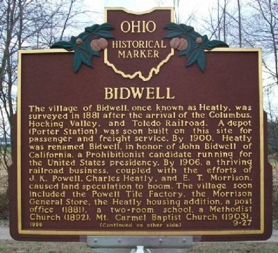 Bidwell Marker (Side A) image. Click for full size.