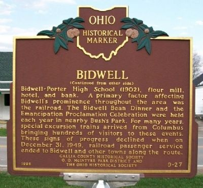 Bidwell Marker (Side B) image. Click for full size.