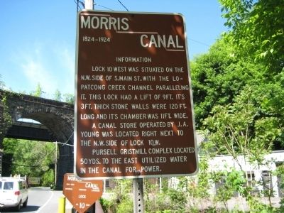 Morris Canal - Lock 10 West Marker image. Click for full size.