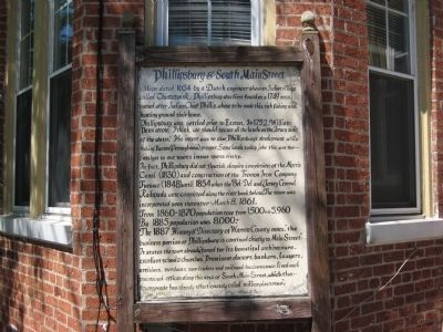 Phillipsburg & South Main Street Marker image. Click for full size.