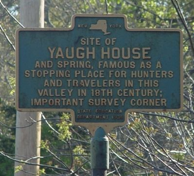 Site of Yaugh House Marker image. Click for full size.