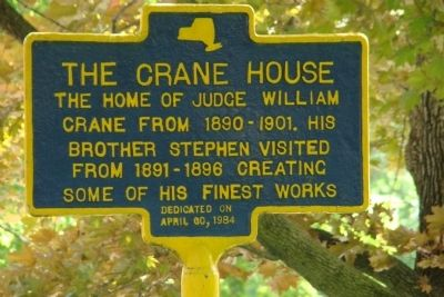 The Crane House Marker image. Click for full size.