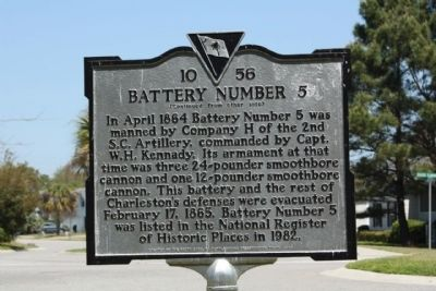 Battery Number 5 Marker reverse side image. Click for full size.
