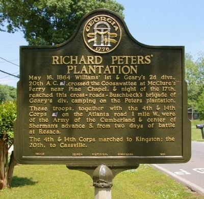 Richard Peters Plantation Marker image. Click for full size.