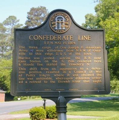 Confederate Line Marker image. Click for full size.