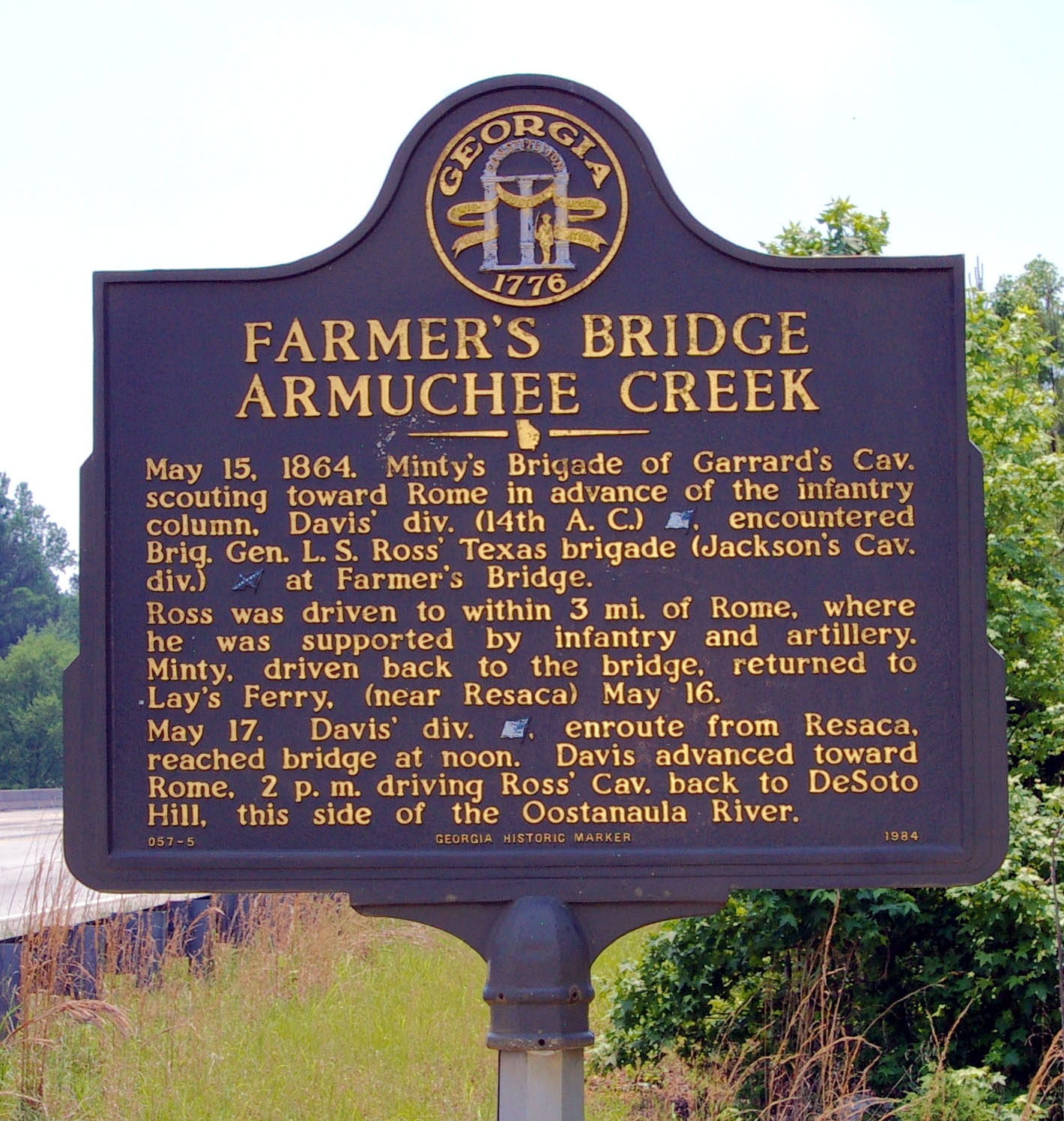 Farmer�s Bridge Armuchee Creek Marker