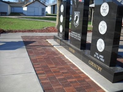 Missouri Valley Veterans' Memorial Marker Photo, Click for full size
