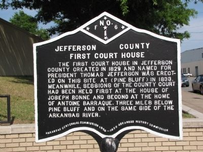 Jefferson County First Court House Marker image. Click for full size.