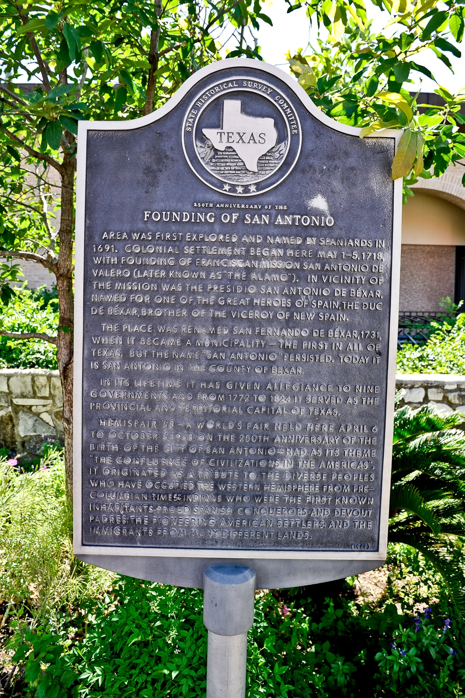 250th Anniversary of the Founding of San Antonio Marker
