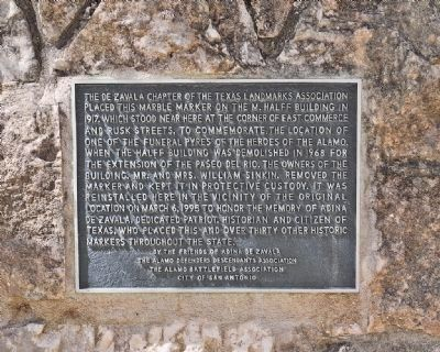 Alamo Funeral Pyre Historical Marker