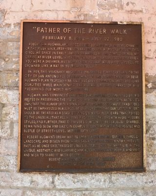 Father of the River Walk Marker Photo, Click for full size