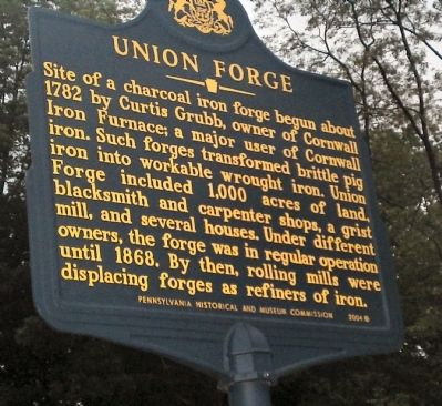 Union Forge Marker Photo, Click for full size