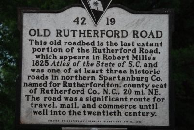 Old Rutherford Road Marker image. Click for full size.