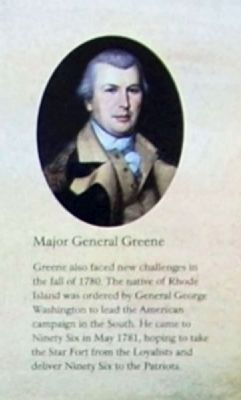 The Siege of Ninety Six Marker -<br>Major General Greene image. Click for full size.