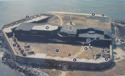 Aerial View of Fort Sumter image. Click for full size.