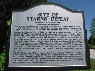 Site of Starns' Defeat Marker image. Click for full size.