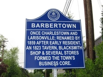 Barbertown Marker image. Click for full size.