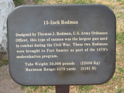 15-Inch Rodman Marker image. Click for full size.