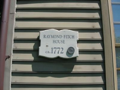 Raymond-Fitch House ca. 1772 Marker image. Click for full size.