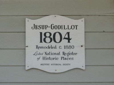 Jesup-Godillot House Marker image. Click for full size.
