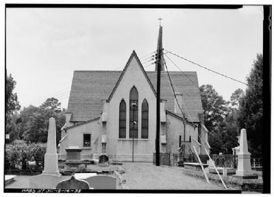 Church of the Holy Cross Stateburg East (rear) Facade image. Click for full size.