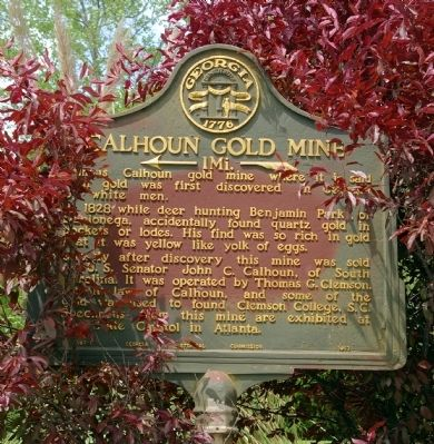 Calhoun Gold Mine Marker Photo, Click for full size