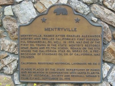 Mentryville Marker image. Click for full size.