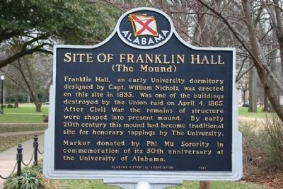 Site Of Franklin Hall Marker image. Click for full size.