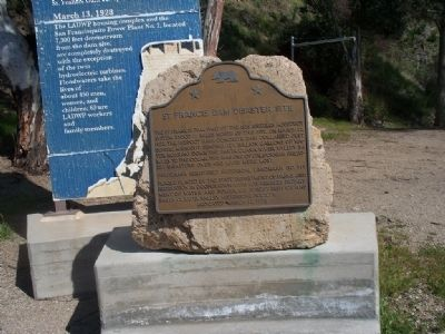 St. Francis Dam Disaster Site Marker image. Click for full size.