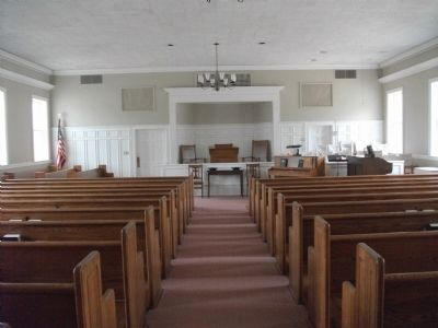 Cane Creek Meeting Interior Photo, Click for full size