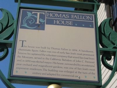 Thomas Fallon House Marker image. Click for full size.