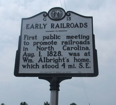 Early Railroads Marker image. Click for full size.