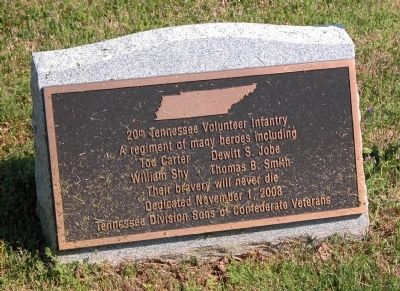 20th Tennessee Volunteer Infantry Marker Photo, Click for full size