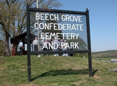 Sign at Entrance to the Beech Grove Confederate Cemetery image. Click for full size.