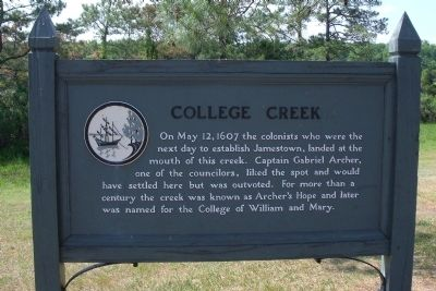 College Creek Marker Photo, Click for full size