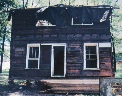 Logan Log House Before Restoration image. Click for full size.