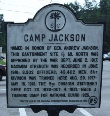 Camp Jackson Marker image. Click for full size.