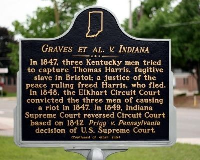 Graves et al v. Indiana Marker image. Click for full size.