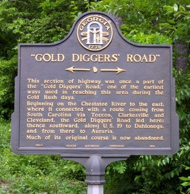 """Gold Diggers' Road"" Marker Photo, Click for full size"
