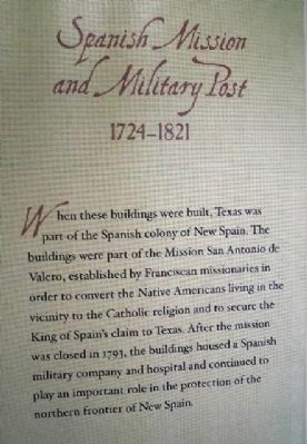 Spanish Mission and Military Post Marker image. Click for full size.