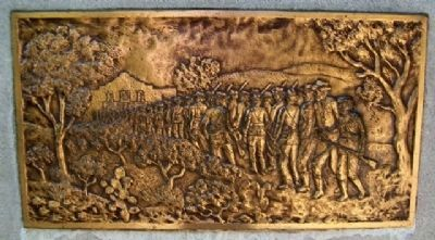 Gonzales Men at the Alamo Relief on Monument image. Click for full size.