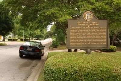 Georgia's First School of Medicine Marker along Greene Street image. Click for full size.