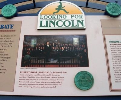 Lincoln - Thornton Debate Marker - Center Section image. Click for full size.