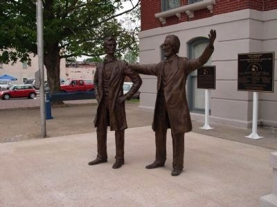 Lincoln - Thornton Debate Sculpture image. Click for full size.