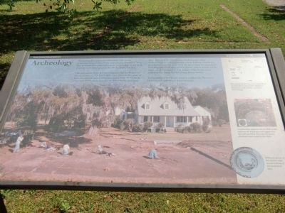 """Archeology"" Marker at Snee Farm image. Click for full size."